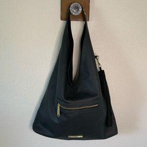 Steve Madden Black Leather Hobo